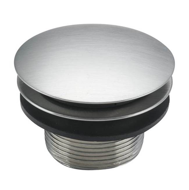 Black Nickel 5 Jaclo 531-125-BKN Toe Control Drain Strainer with Single Hole Faceplate