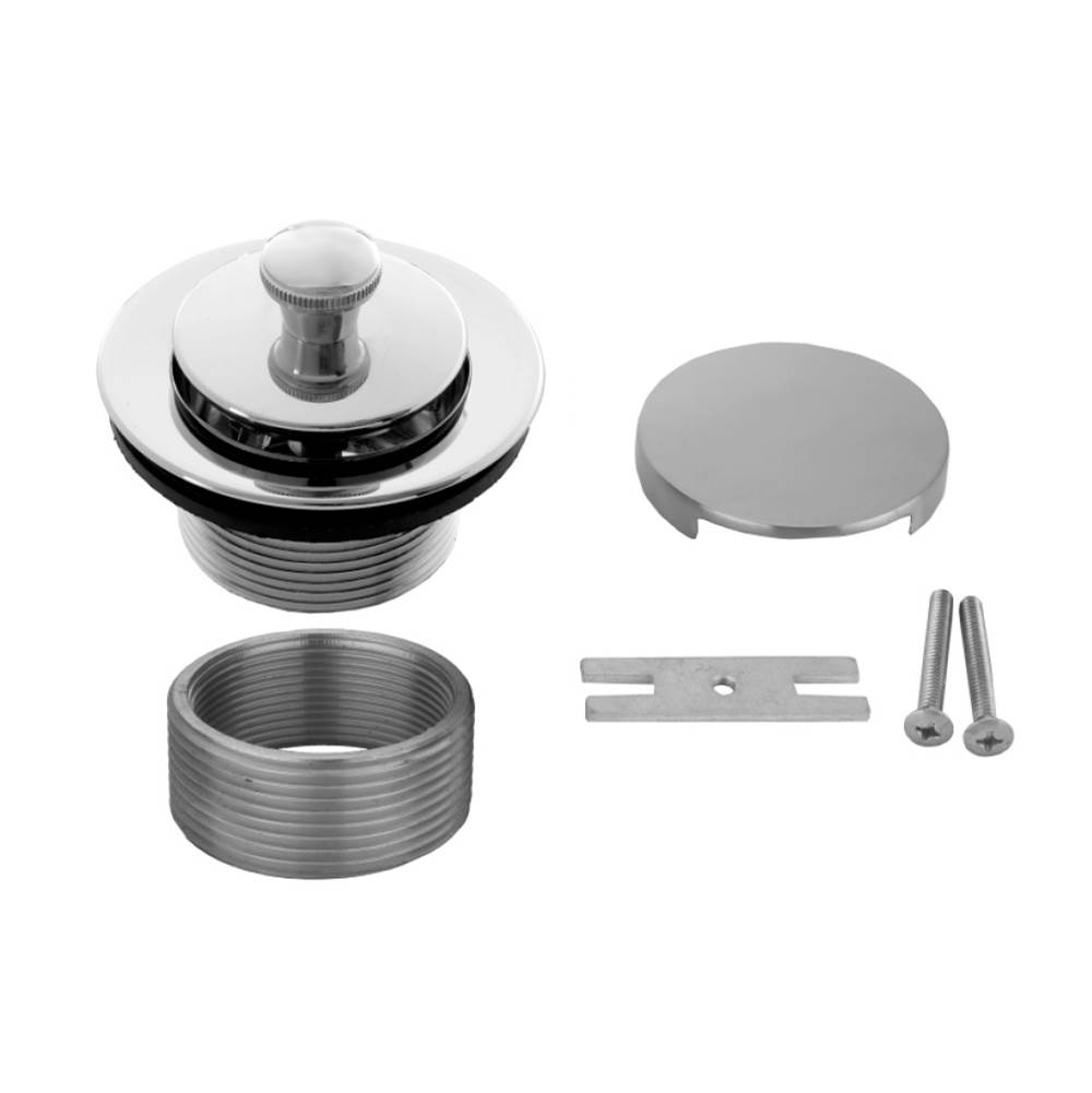 Black Nickel Jaclo 531-125-BKN Toe Control Drain Strainer with Single Hole Faceplate 5