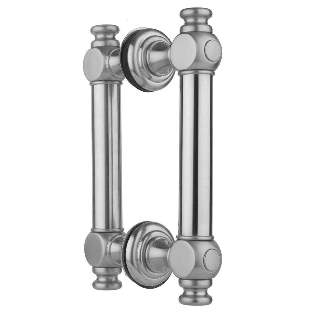Polished Brass Jaclo H60-FM-12-PB Smooth Front-Mount Shower Door Handle with End Caps