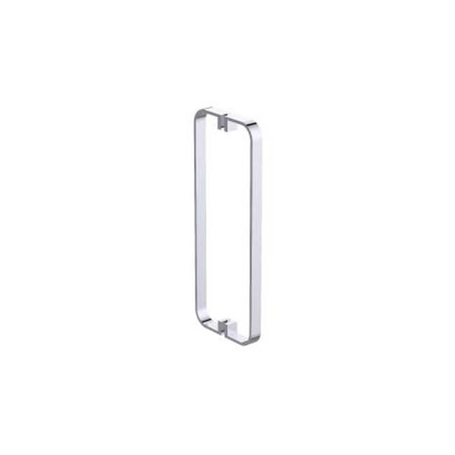 Antique Brass Standard Plumbing Supply Jaclo H42-FM-12-AB Cubix Front-Mount Shower Door Handles