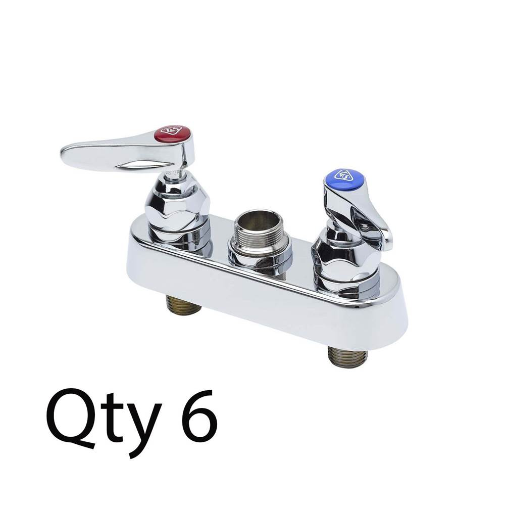 4-Inch Centers 2.2 Gpm Aerator and Push Button Handles T/&S Brass B-0831-VR Metering Faucet with Deck Mount
